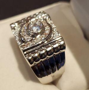 Unisex New Diamond Crystal Zirconia Stone Eye Ring